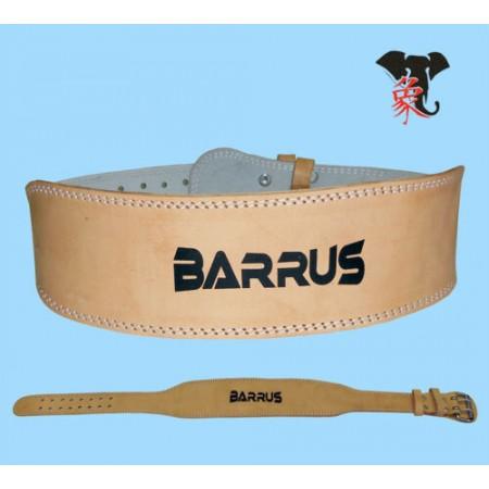 Cintura cuoio Barrus per Body Building e pesisitica
