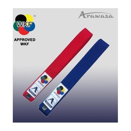 Cintura ARAWAZA cotone rossa e blu WKF